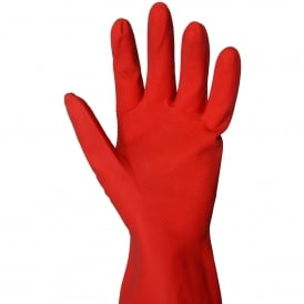 Household Rubber Gloves - red