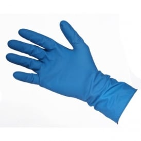 Latex Gloves - Blue Powdered