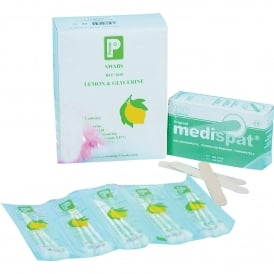 Lemon & glycerine swabs (pk 25x3)