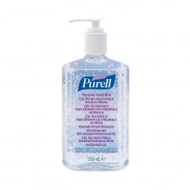Purell instant sanitiser Pump Bottle (pk 12x350ml)