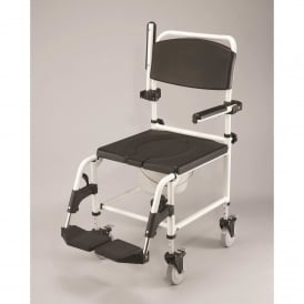 Shower/Commode Chair (attendant propelled), height adjustable