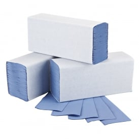 146015 Blue z fold 1 ply hand towels (pk 3000)