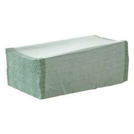 Certus Green Interfold 1 ply hand towels (pk 4600)