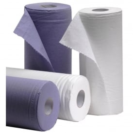 GL36 25cm 2 ply white 125 sheets Wiper Rolls (pk 18)